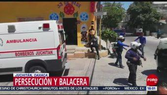 FOTO: Persecución y balacera en Juchitán, Oaxaca, 17 marzo 2019