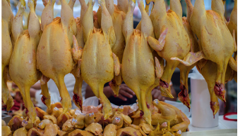 Foto: Pollos en un mercado de México, 31 de octubre de 2015, México