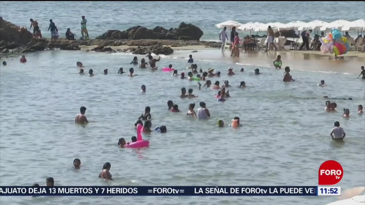FOTO: Por noveno año consecutivo spring breakers no visitan playas de Acapulco, 9 marzo 2019