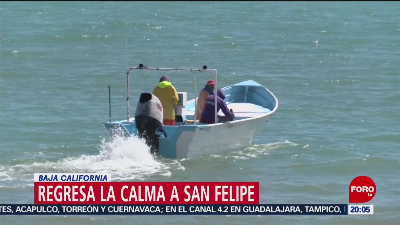 Regresa la calma a San Felipe, en Baja California
