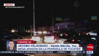 FOTO: Reportan apagón masivo en la Península de Yucatán, 8 marzo 2019