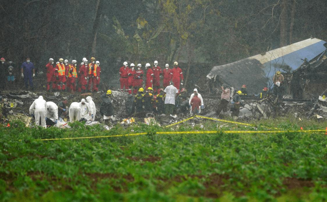 Foto: Restos de avión accidentado en Cuba, 18 de mayo de 2018, La Habana
