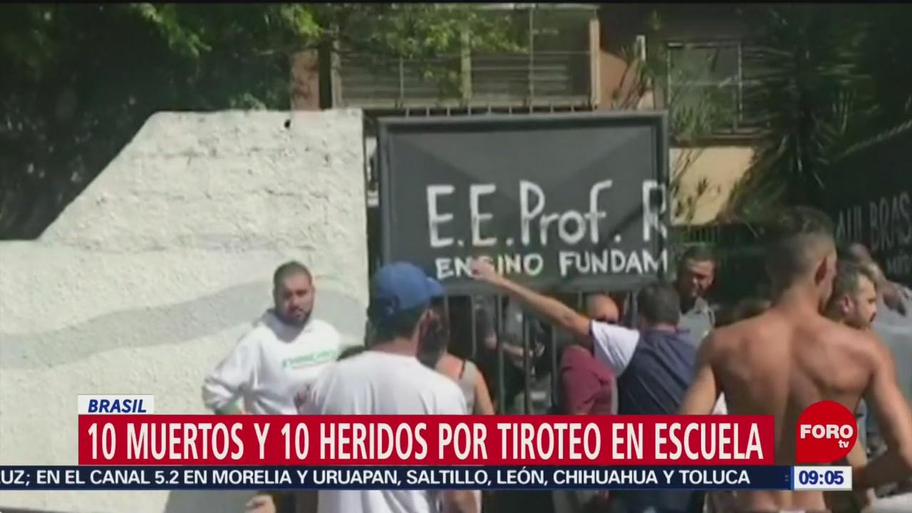 Tiroteo en escuela de Sao Paulo; hay 10 muertos
