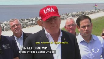 Foto: Trump dice que no bromea sobre cerrar la frontera con México