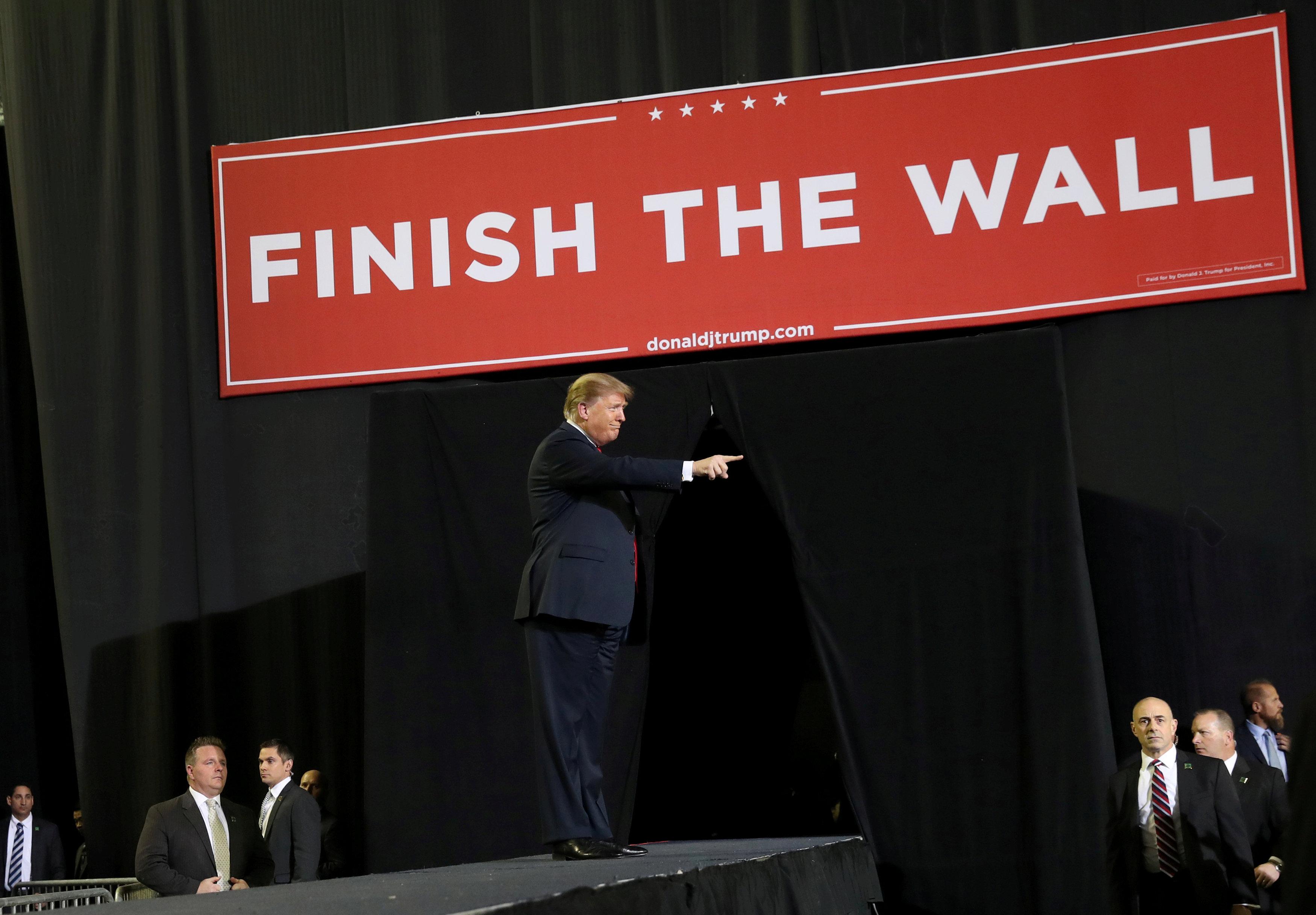 Foto: El presidente de Estados Unidos, Donald Trump, durante un mitin en el Coliseum, en El Paso, Texas, 10 marzo 2019