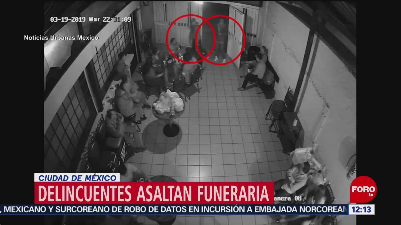 Video capta robo dentro de funeraria en la CDMX