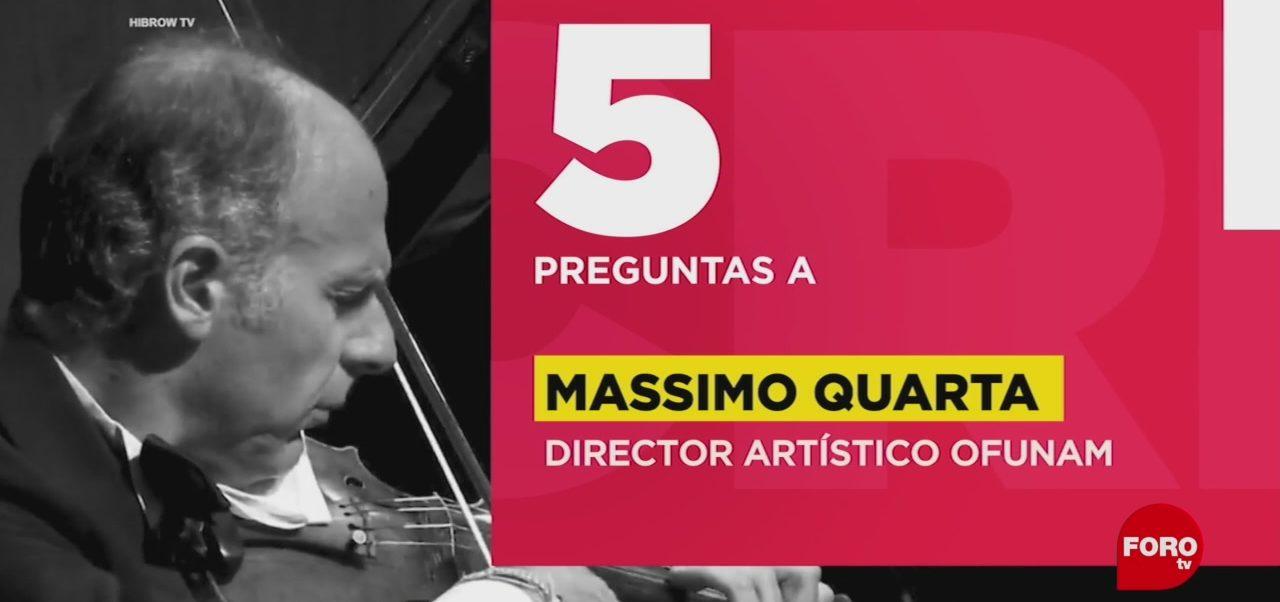 FOTO: 5 preguntas para Massimo Quarta, director artístico OFUNAM, 28 ABRIL 2019