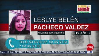 Activan Alerta Amber para localizar Leslye Belén Pacheco Valdez