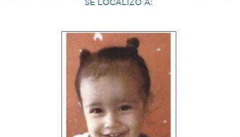 Foto: Desactivan la Alerta Ambertras localizar a la niña Nancy Dannae López García, 26 abril 2019