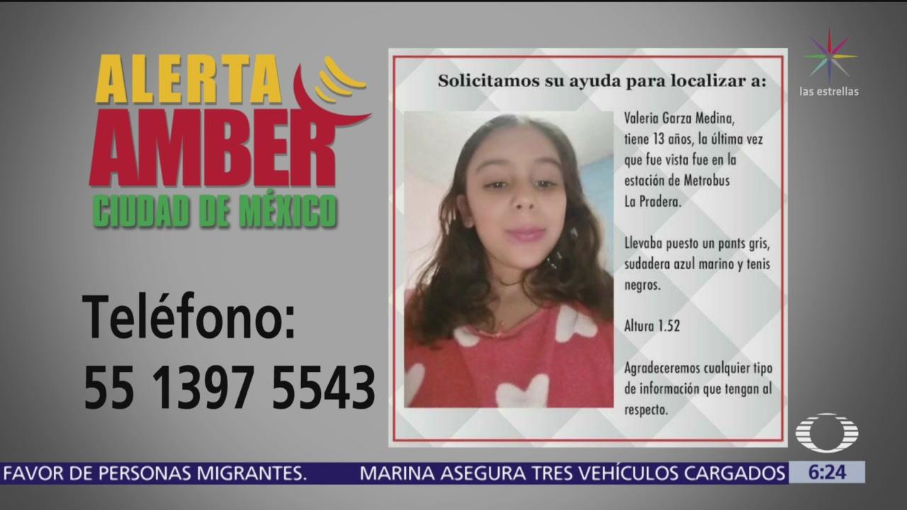 Alerta Amber para localizar a Valeria Garza Medina