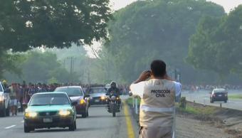 FOTO AMLO niega contradicción en política migratoria de México tras operativo en Chiapas (Noticieros Televisa 22 abril 2019 chiapas)