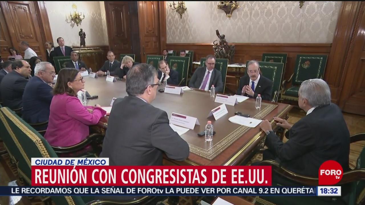 Foto: AMLO se reúne con congresistas estadounidenses