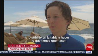 FOTO: Aprenden surf en Los Cabos, en Baja California Sur, 6 de abril 2019