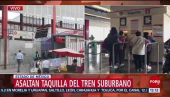 Foto: Asaltan taquilla del Tren Suburbano