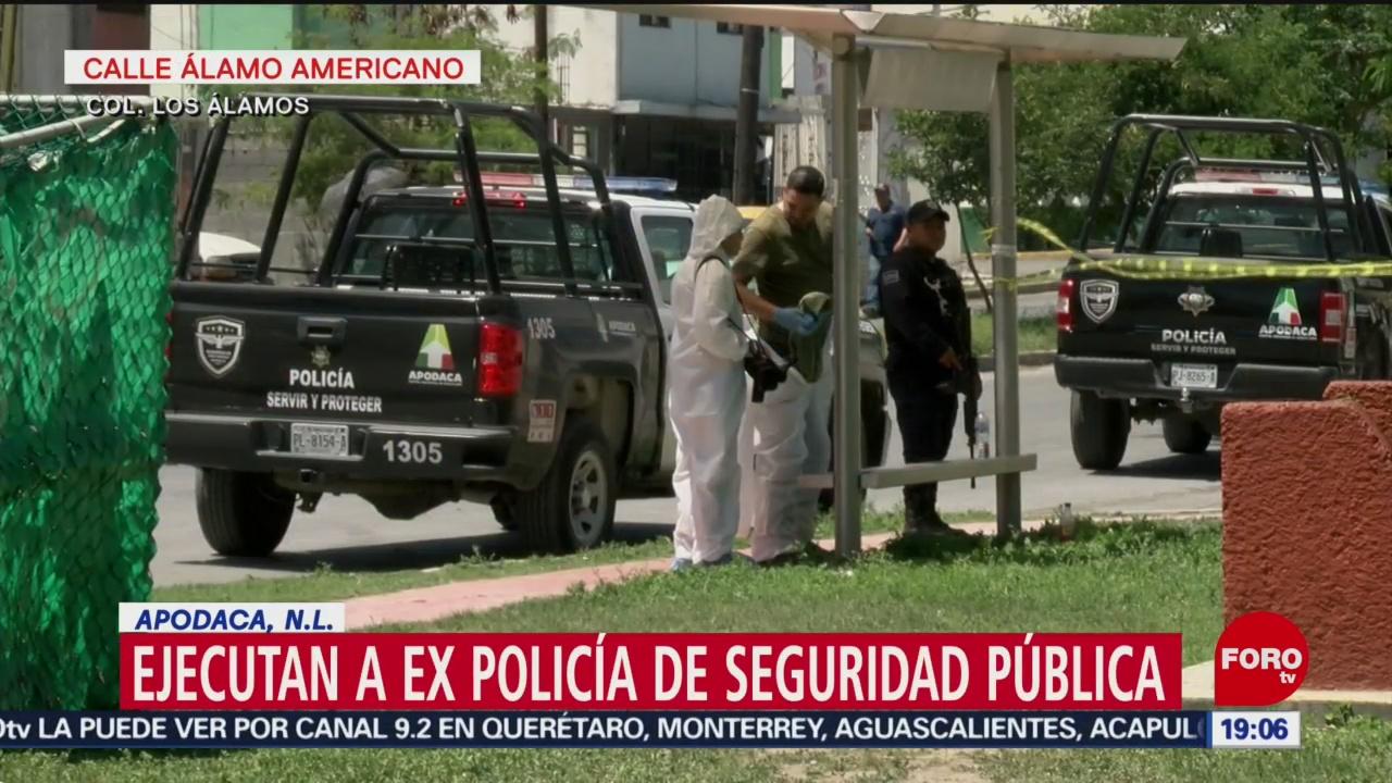 Foto: Asesinan Expolicía Afuera Casa Apodaca NL 11 Abril 2019