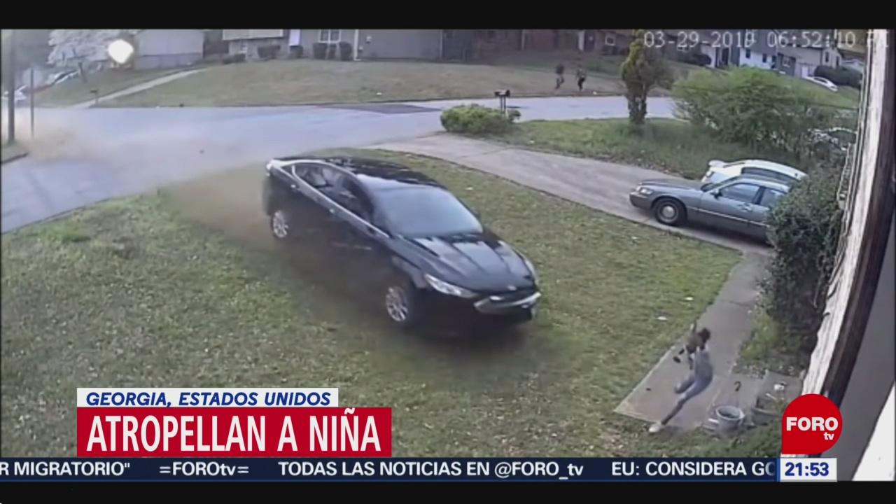 Foto: Automovilista Atropella Niña Jugaba Casa USA Georgia 1 de Abril 2019