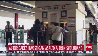 Autoridades investigan asalto a tren suburbano en Edomex