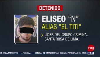 "FOTO:Cae ""El Titi"", presunto líder del grupo criminal Santa Rosa de Lima, 21 ABRIL 2019"