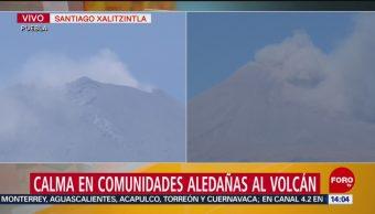 FOTO: Calma en comunidades aledañas al volcán Popocatépetl, 13 de abril 2019