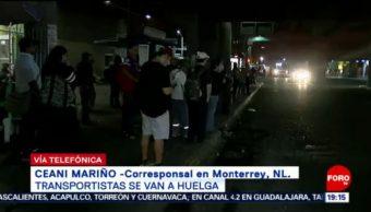 Foto: Caos Huelga Transportistas Monterrey NL 29 de Abril 2019