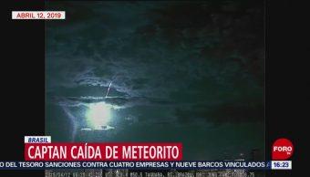 FOTO: Captan caída de meteorito en Brasil, 14 de abril 2019