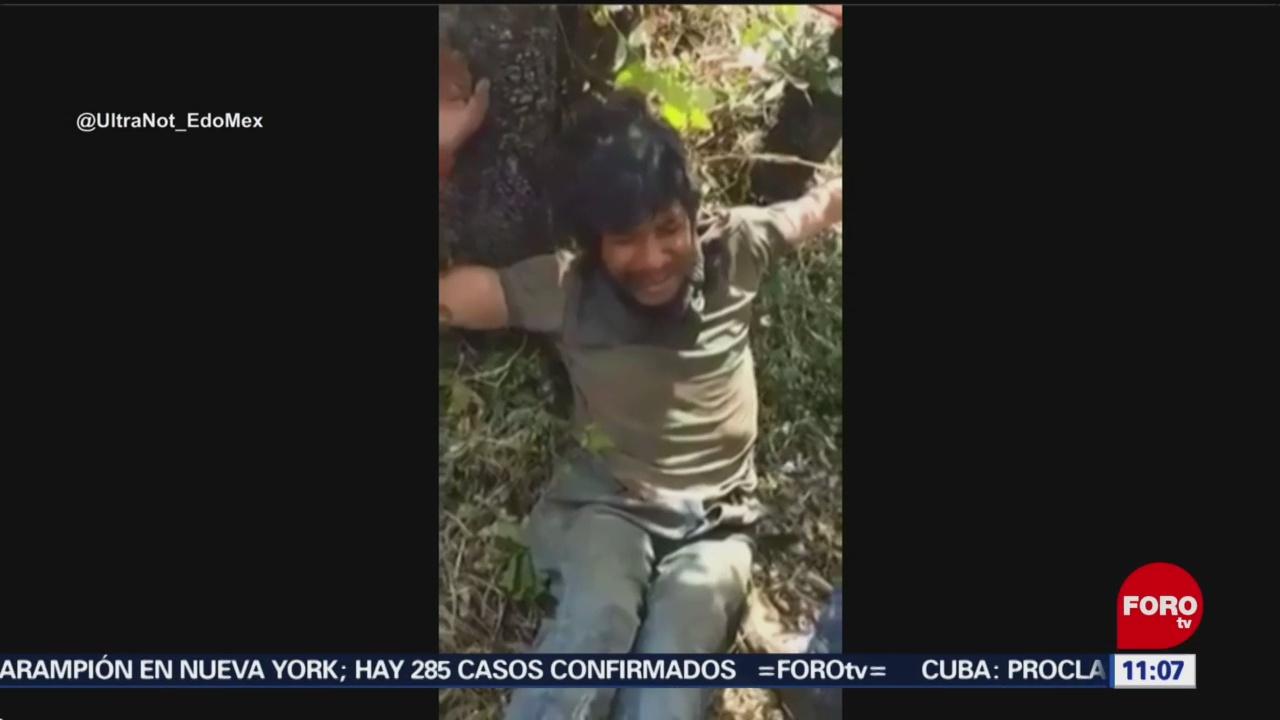 Capturan y amarran de árbol a un ladrón en Uruapan