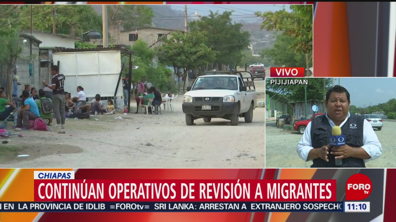 Caravana de migrantes intentan reagruparse en Pijijiapan, Chiapas