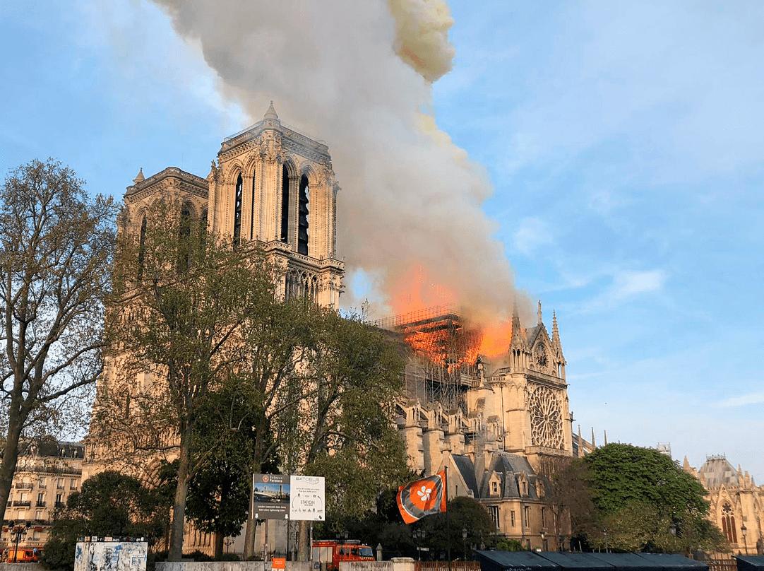 Foto: Catedral de Notre Dame, incendio, 15 de abril de 2019, París, Francia
