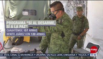 Foto: CDMX hace balance de armas ilegales recuperadas
