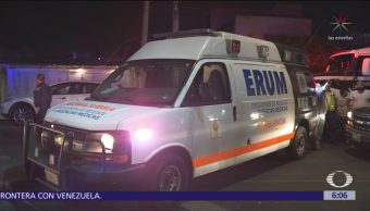 Choca ambulancia en la colonia Postal, CDMX