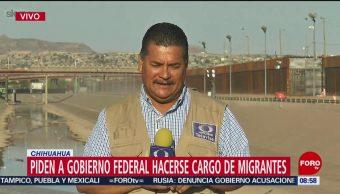 FOTO:Ciudad Juárez pide al gobierno federal hacerse cargo de crisis migratoria, 27 ABRIL 2019