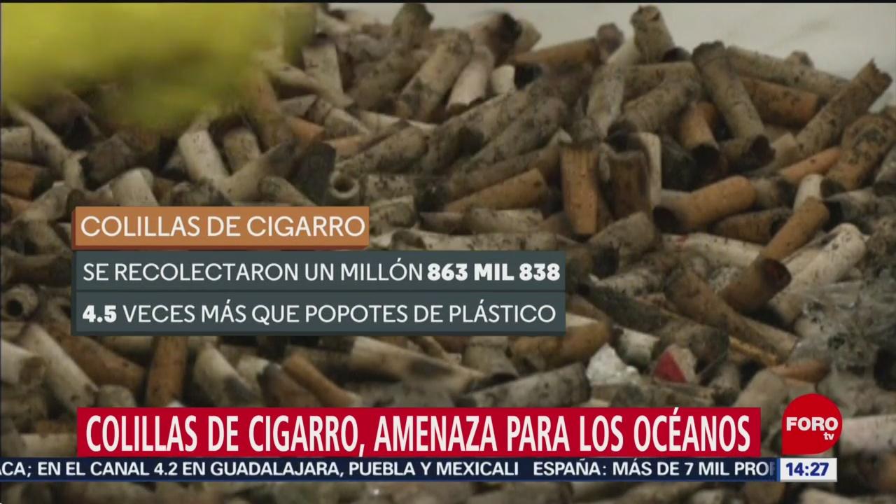 Foto: Colillas de cigarros, el mayor contaminante de los mares