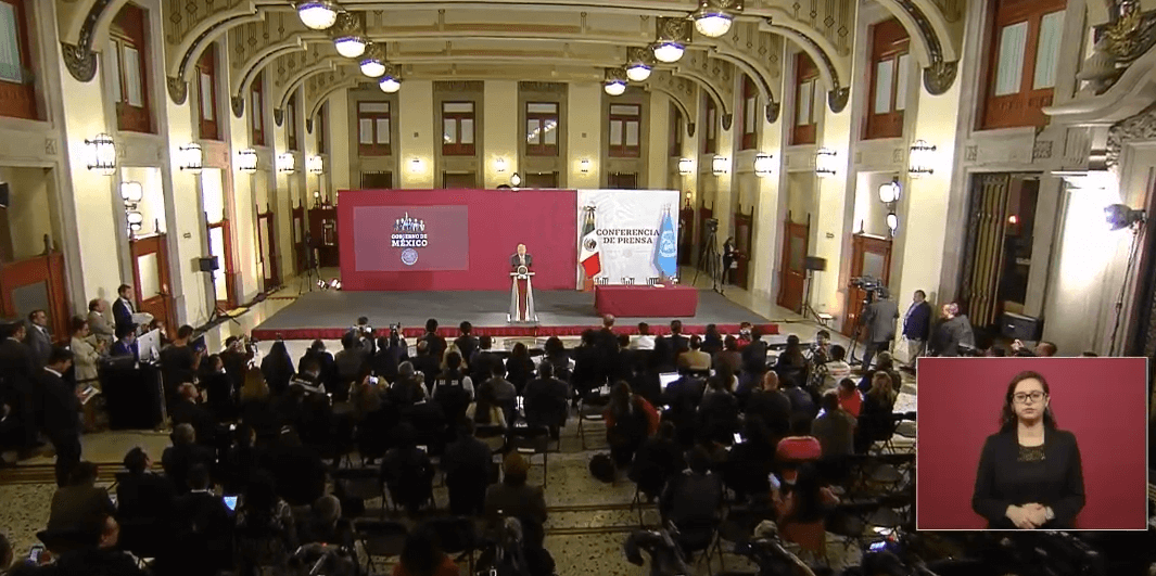 FOTO Transmisión en vivo: Conferencia de prensa AMLO 9 de abril 2019 cdmx