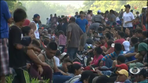 Foto: Tensión Habitantes Chiapas Migrantes 16 de Abril 2019