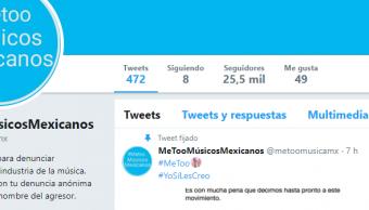 IMAGEN Twitter Me Too de músicos mexicanos cierra y lamenta perjuicios (Twitter 3 abril 2019 cdmx)