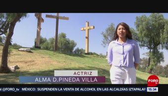 FOTO: Darinka Pineda Villa, la virgen María en Iztapalapa, 18 ABRIL 2019