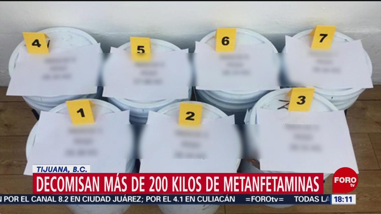 Foto: Decomisan 200 kilos de metanfetaminas en Tijuana