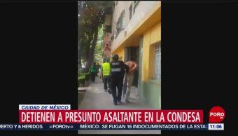 Detienen a hombre que presuntamente cometió un asalto en la Condesa, CDMX