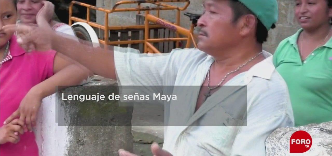 FOTO: El lenguaje de señas mayas, 28 ABRIL 2019