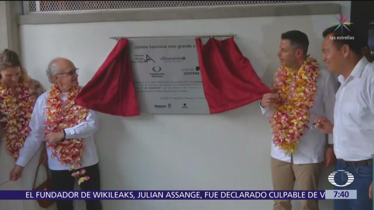 El señor Emilio Azcárraga y fundaciones entregan apoyos a damnificados en Oaxaca