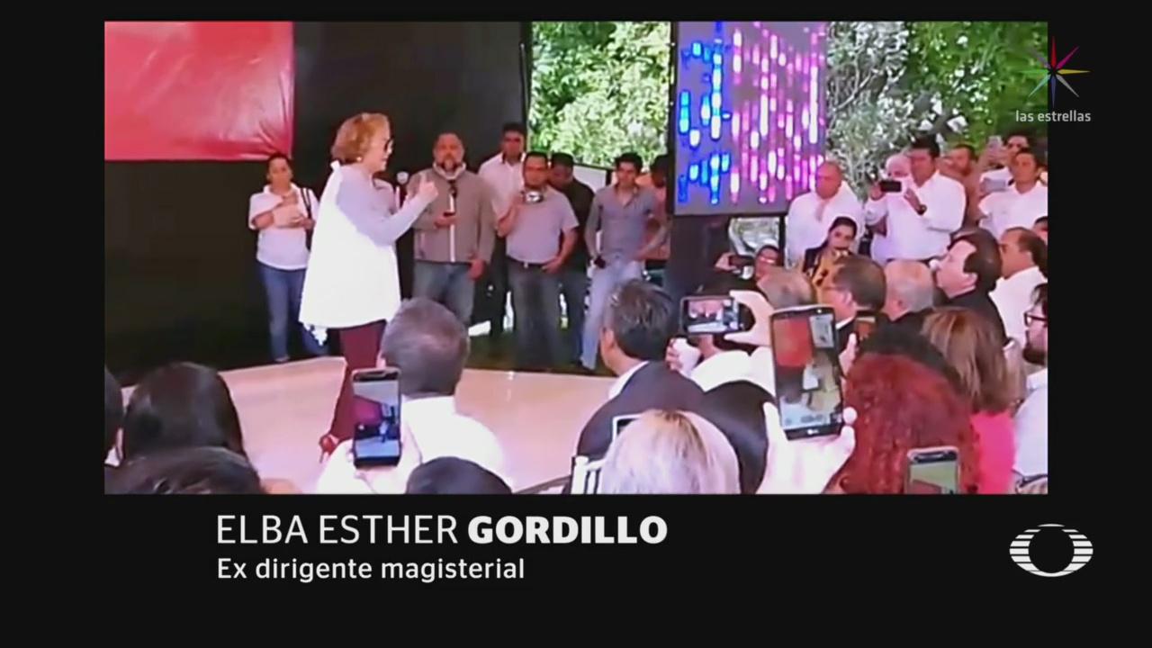 Foto: Elba Esther Gordillo Reaparece Puebla 8 de Abril 2019