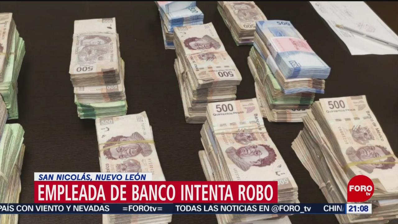 Foto: Empleada Bancaria Pretendía Llevarse Casi 2 Bolsa 12 de Abril 2019