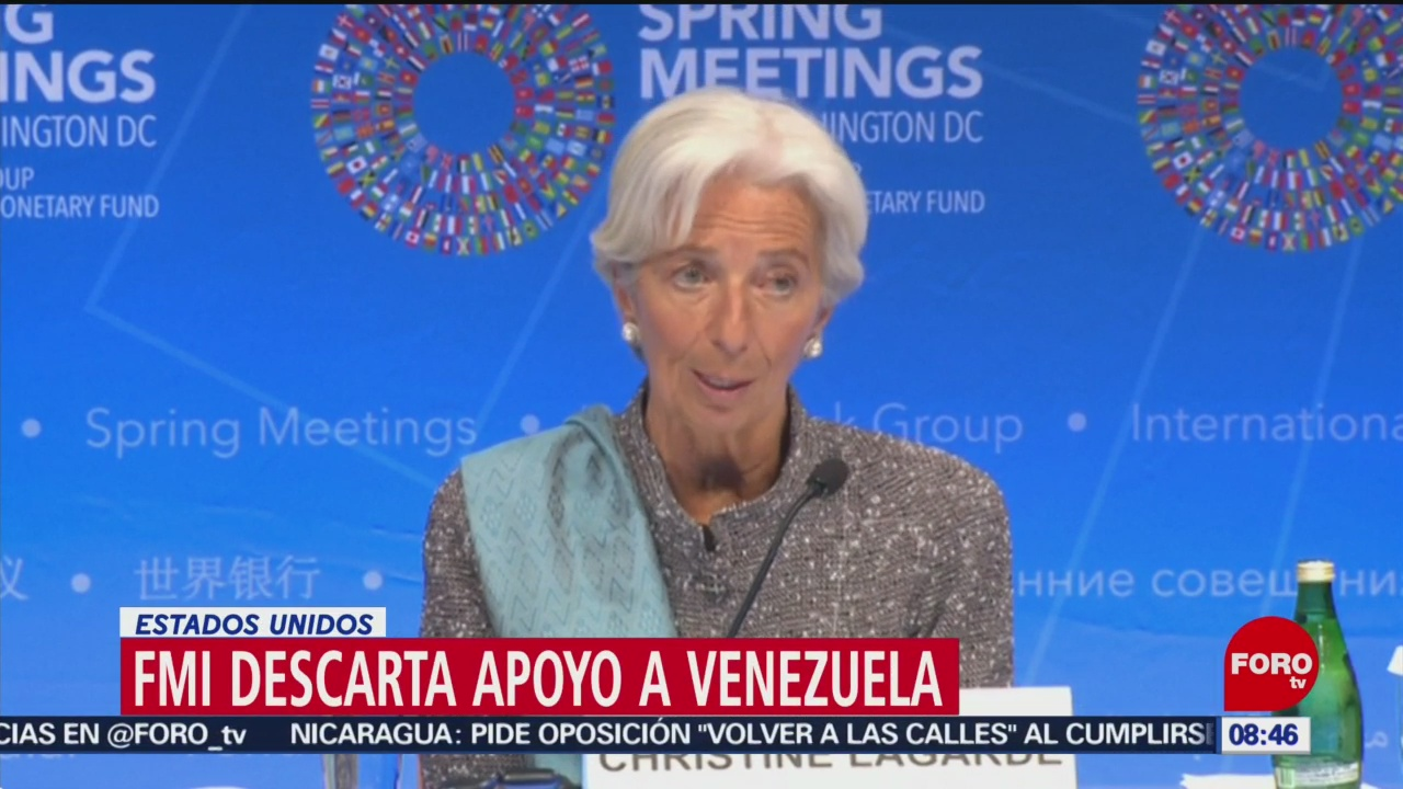 FOTO: FMI descarta apoyo a Venezuela, 14 de abril 2019