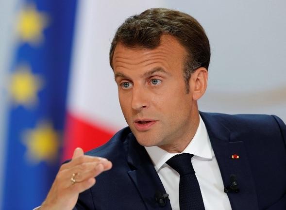 """Foto: El presidente de Francia, Emmanuel Macron, habla sobre las protestas de """"chalecos amarillos"""". El 25 de abril de 2019"""