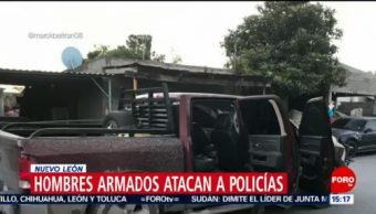 FOTO: Hombres armados atacan a policías en Nuevo León, 14 de abril 2019