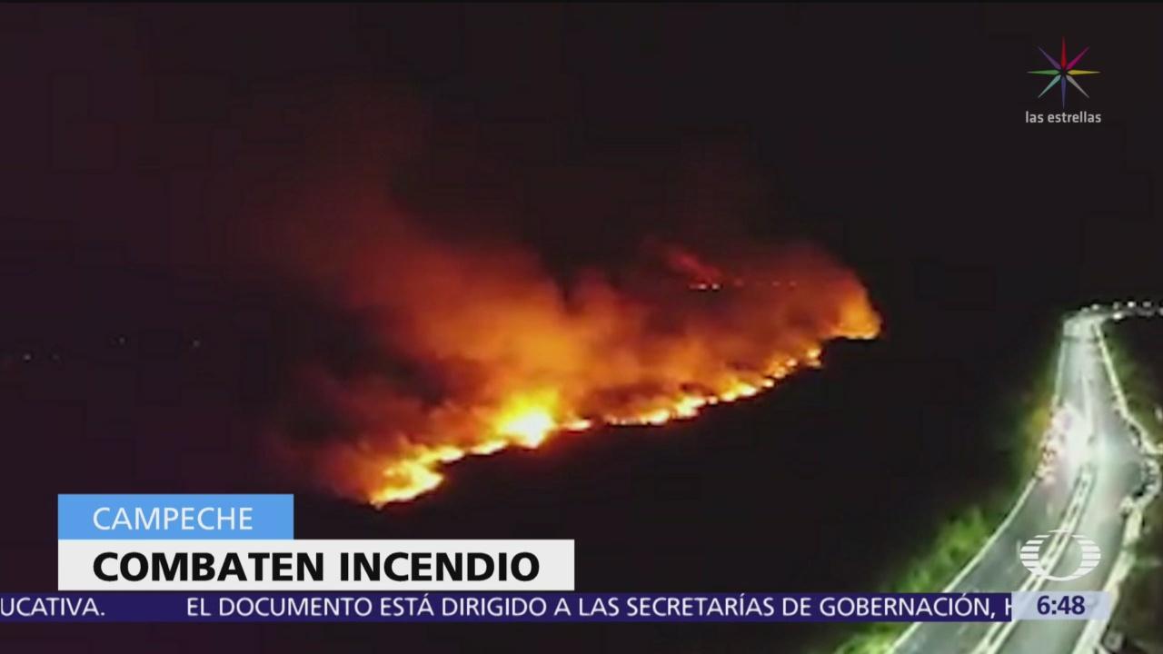 Incendio arrasa al menos 300 hectáreas en Campeche