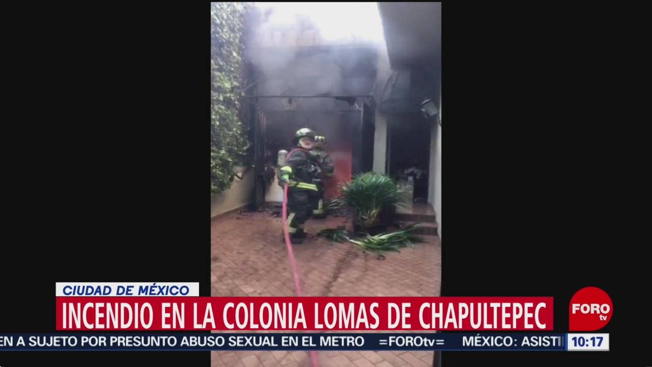 FOTO: Incendio consume una casa en Lomas de Chapultepec, 7 de abril 2019