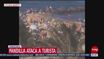 FOTO: Jóvenes atacan a turista en playa Martí, Veracruz, 20 ABRIL 2019