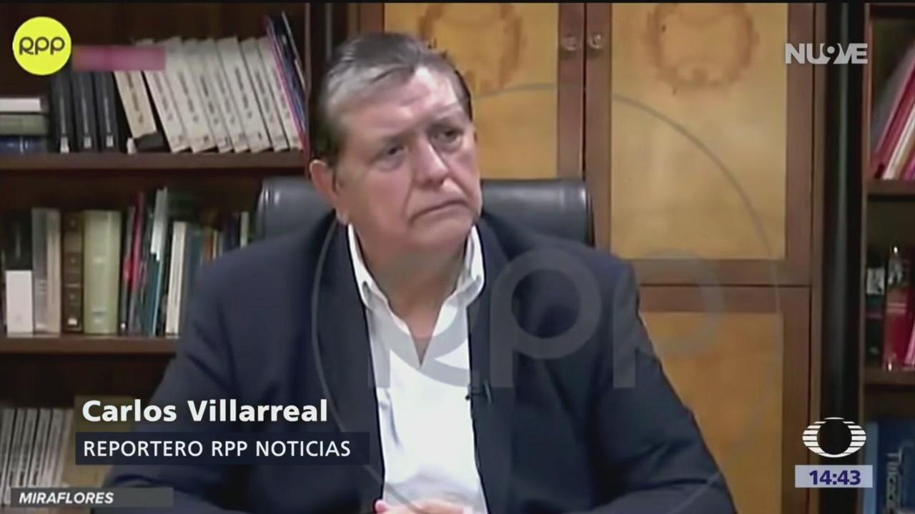 FOTO: La última entrevista al expresidente Alan García, 18 ABRIL 2019