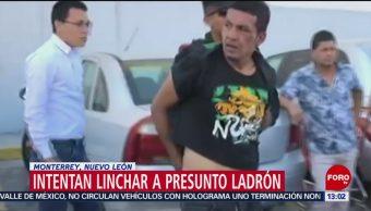 Foto: Ladrón se salva de ser linchado por asaltar a mujer en Monterrey